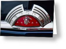 Close-up Of A Mercury Classic Car Of Greeting Card