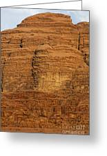 Close Up Of A Rocky Outcrop At Wadi Rum In Jordan Greeting Card