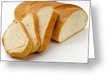 Close-up Of White Bread With Slices Greeting Card