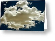 Cloud On Dark Sky. Greeting Card