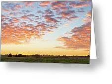 Clouds Over Landscape At Sunset Greeting Card