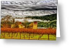 Clouds Over Napa Valley Greeting Card