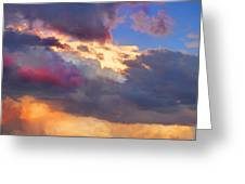 Cloudscape Sunset Touch Of Blue Greeting Card