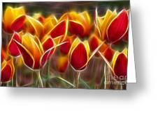 Cluisiana Tulips Fractal Greeting Card