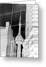 Cn Tower Reflected Greeting Card