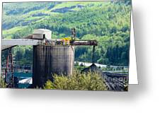 Coal Mine Electrical Energy Power Plant In Nature Greeting Card