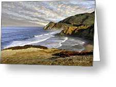 Coastal Beauty Impasto Greeting Card