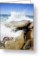 Coastal Collision Greeting Card