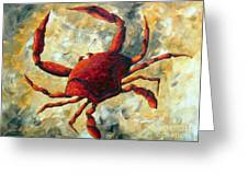 Coastal Crab Decorative Painting Original Art Coastal Luxe Crab By Madart Greeting Card