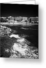Coastal Path Past Salou Waterfront Properties On The Costa Dorada Catalonia Spain Greeting Card