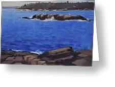 Coastal Waters Of Maine - Art By Bill Tomsa Greeting Card