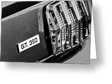 Cobra Gt 350 Taillight Emblem Greeting Card