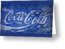Coca Cola Blues Greeting Card