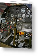 Cockpit Of A P-40e Warhawk Greeting Card