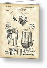 Cocktail Mixer And Strainer Patent 1902 - Vintage Greeting Card