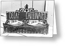 Coffee Bean Holder Greeting Card
