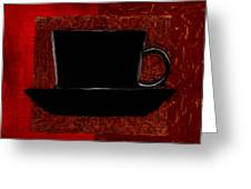 Coffee Passion Greeting Card by Lourry Legarde