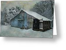 Cold Day On The Farm Greeting Card