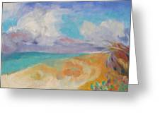 Collapsed Sand Castle Greeting Card by Susan Hanlon