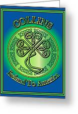 Collins Ireland To America Greeting Card