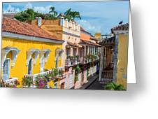 Colonial Balconies Greeting Card
