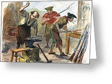 Colonial Blacksmith, 1776 Greeting Card