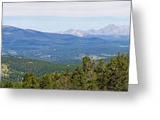 Colorado Continental Divide 5 Part Panorama 5 Greeting Card