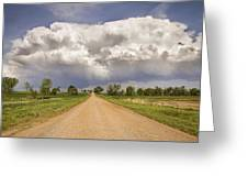 Colorado Country Road Stormin Skies Greeting Card
