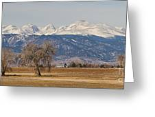 Colorado Front Range Continental Divide Panorama Greeting Card by James BO  Insogna