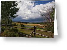 Colorado Ranch Greeting Card by Michael J Bauer