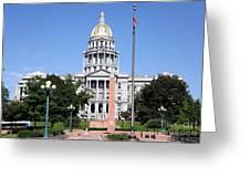 Colorado State Capitol Building Denver Greeting Card