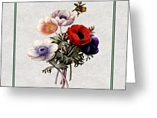 Colorful Anemones Square Greeting Card