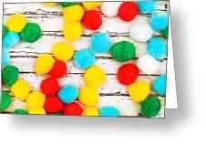 Colorful Bonbons Greeting Card