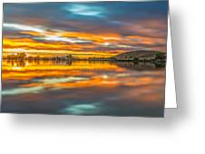 Colorful Clouds At Sunrise Greeting Card
