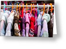 Colorful Coats Greeting Card