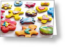 Colorful Cookies Greeting Card by Carlos Caetano