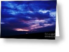Colorful December Sunrise Greeting Card