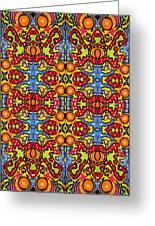 Colorful Folklore Pattern Greeting Card