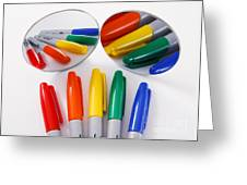 Colorful Markers Greeting Card