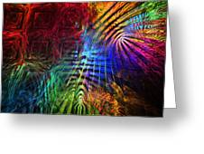 Colorful Psychedelic Abstract Fractal Art Greeting Card