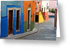 Colorful Street, Mexico Greeting Card