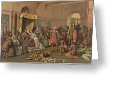 Columbus At Barcelona Greeting Card