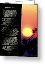 Comes The Dawn Greeting Card