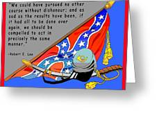 Confederate States Of America Robert E Lee Greeting Card