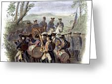 Continental Army Band Greeting Card