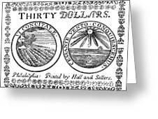 Continental Banknote, 1776 Greeting Card