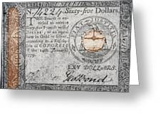 Continental Currency, 1779 Greeting Card