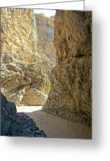 Contrasting Canyon Colors In Big Painted Canyon Trail In Mecca Hills-ca Greeting Card