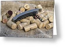 Corks With Corkscrew Greeting Card