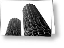 Corn Buildings Chicago Greeting Card